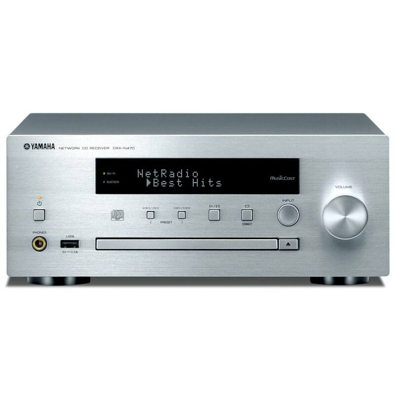 Yamaha CRX-N470 MusicCast Sztereó rádióerősítő ezüst