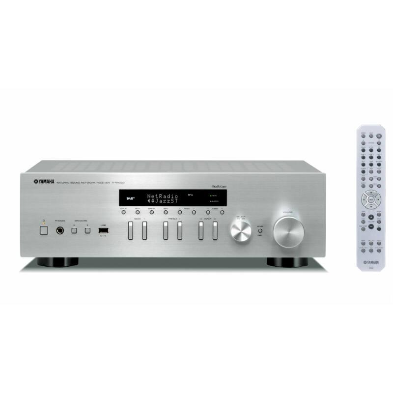 Yamaha R-N402D sztereó hálózati rádióerősítő MusicCast, ezüst